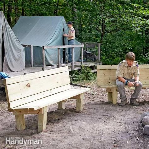 How to Build a Campfire Bench | Outdoor woodworking ...