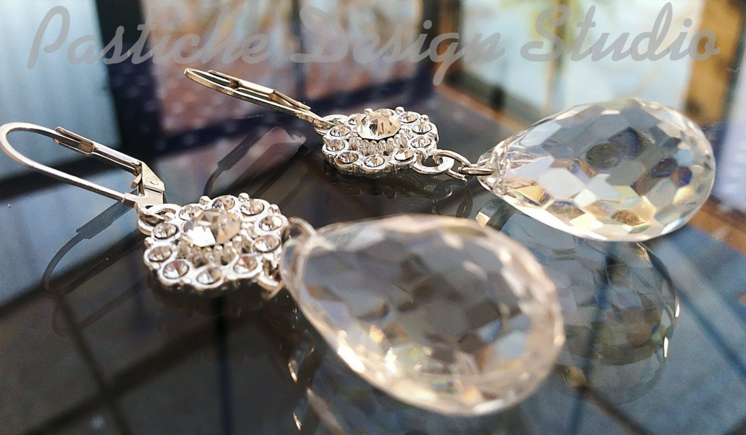 Vintage Inspired Tudor White Crystal and by PASTICHEfashion, $26.00