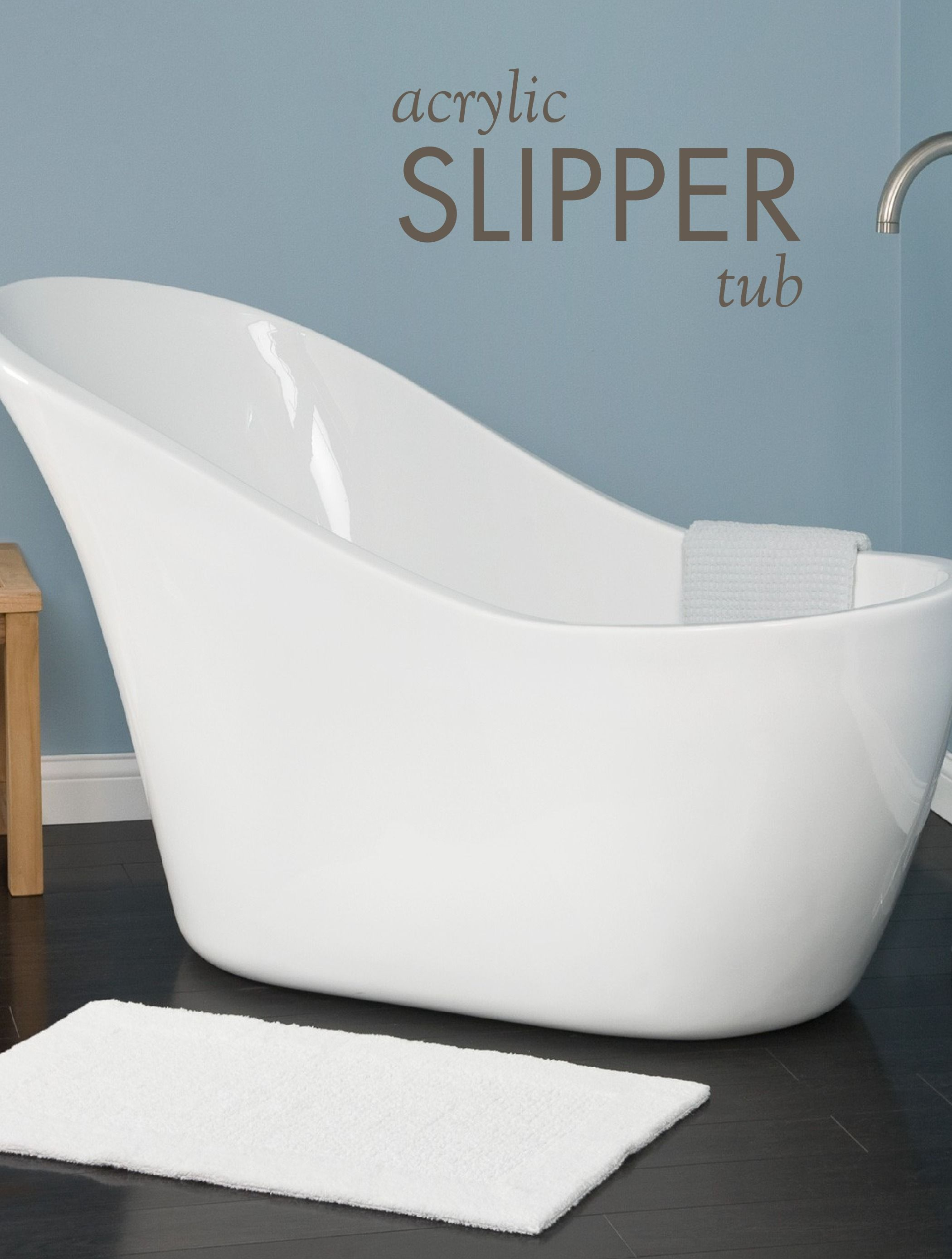 Medlin Acrylic Slipper Tub | Pinterest | Tubs, Walls and Bathtubs