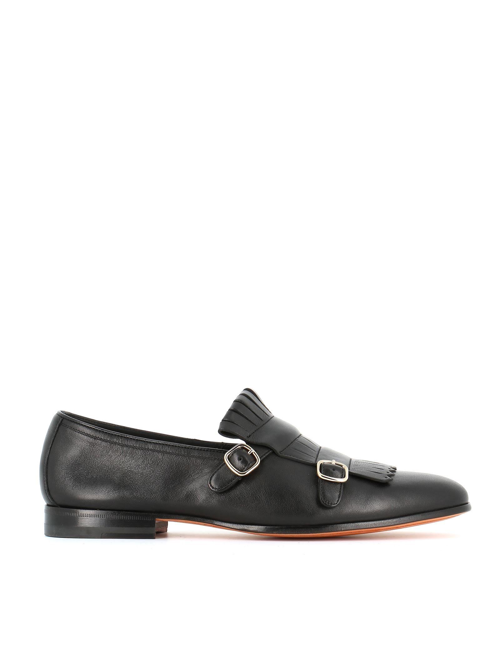 Santoni Frangée Chaussures Moine - Brun nQW4uBoU