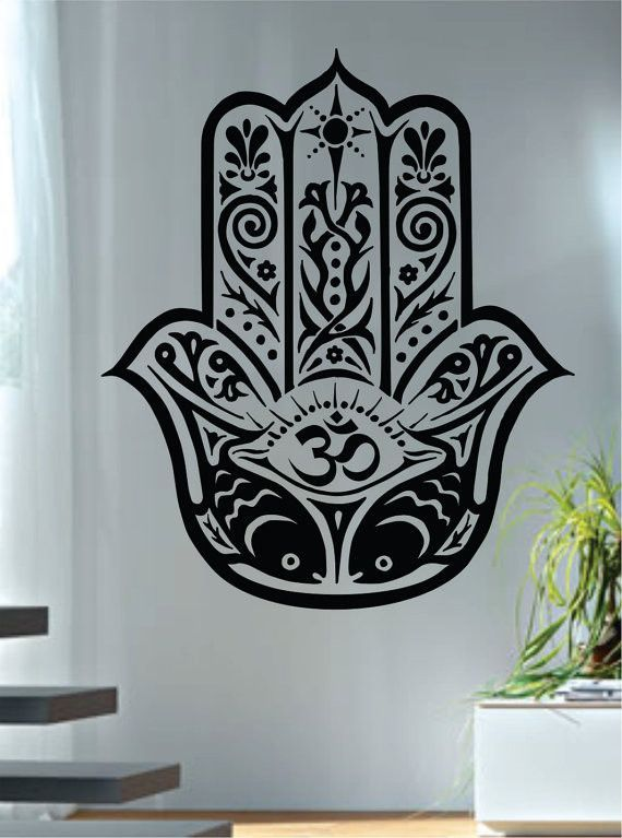 Hamsa hand version 12 design decal sticker wall vinyl decor art