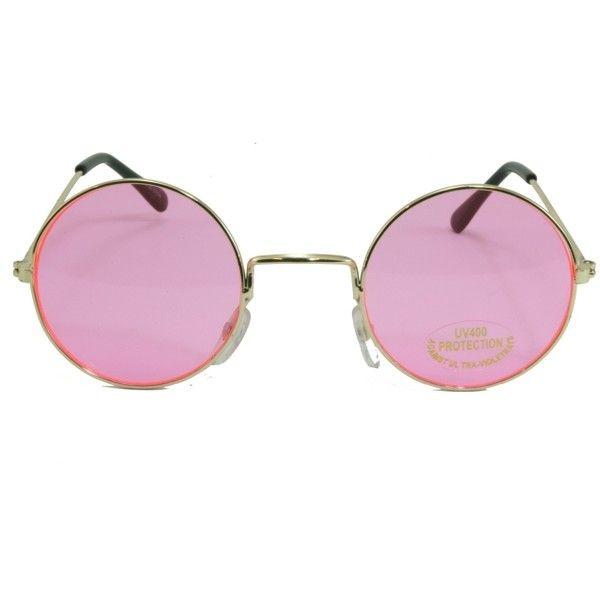 efc0633b7 Round Lennon Ozzy Joplin Glasses Specs Shades Rose Lens Gold Frame ($5.99)  ❤ liked
