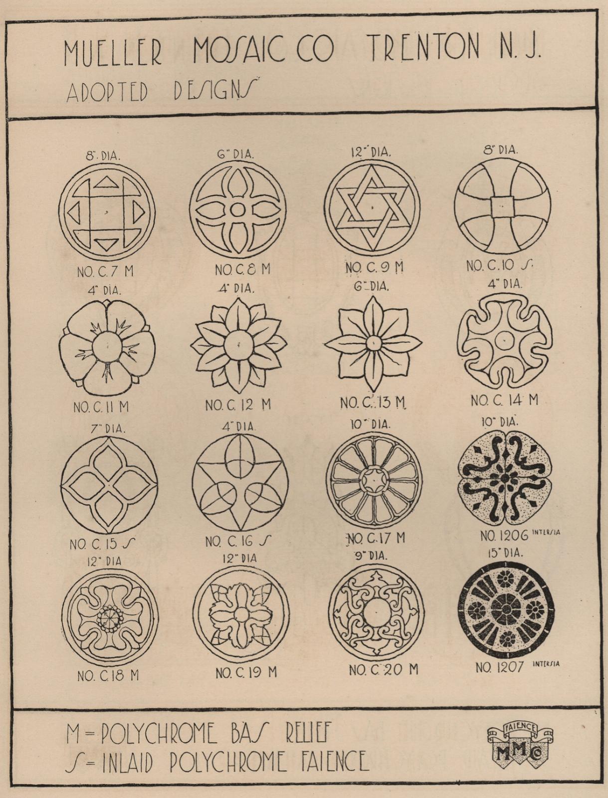 Laurelhurst Craftsman Bungalow: Mueller Mosaic c1920 Tile Catalog #craftsmanstylehomes
