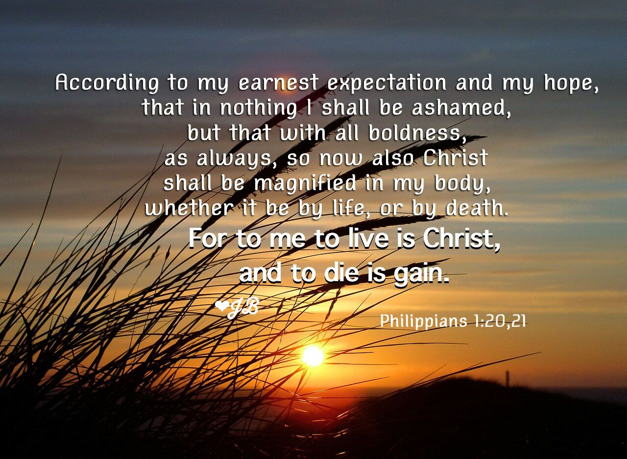According To My Earnest Expectation And My Hope That In