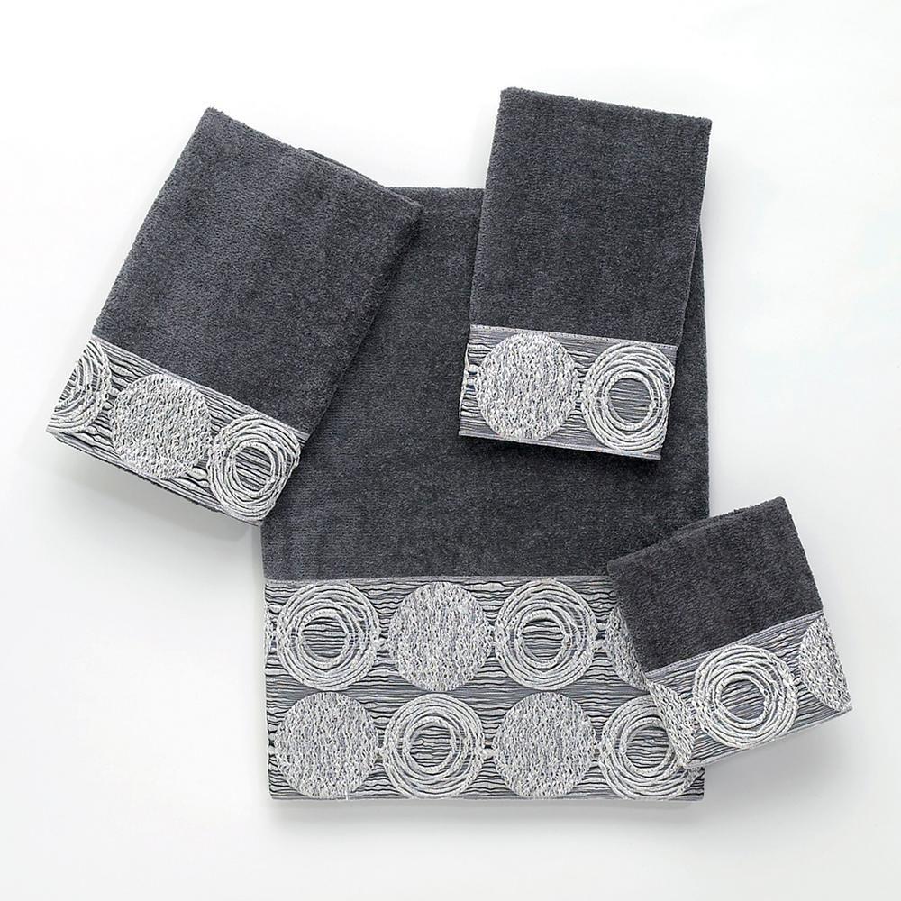 Avanti Linens Galaxy 4 Piece Granite Geometric Bath Towel Set