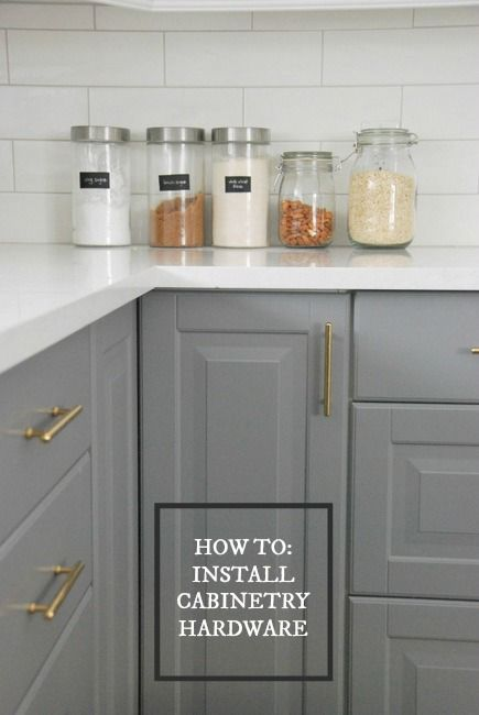 Diy Guide On How To Install Kitchen Cabinetry Hardware Via The Sweetest Digs