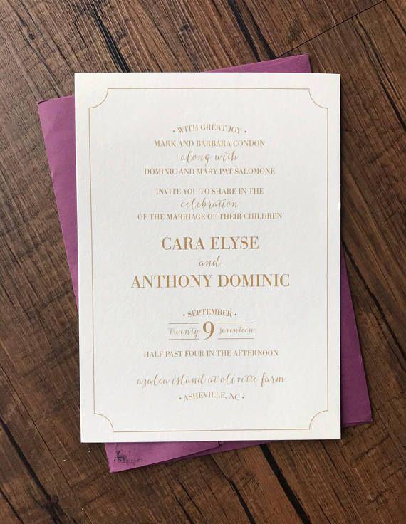 gold wedding invitation gold date wedding invite products