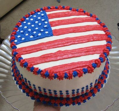 Memorial Day Cake Cake American Flag Cake 4th Of July Cake