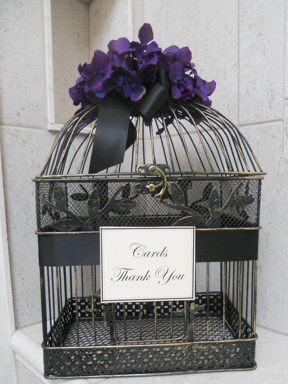 DIY Birdcage Wedding Card Holder / Gift Cardholder / Black
