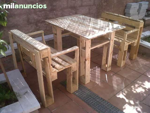 Mesa sillas mami business pinterest wood projects for Sillas para patio