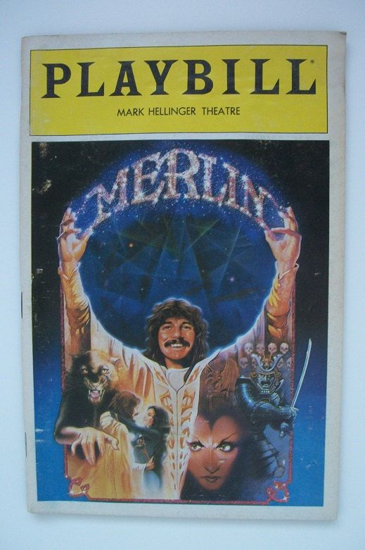 "Vintage ""Merlin"" Playbill starring Doug Henning at the Mark Hellinger Theatre by TimsTimelessToys on Etsy"