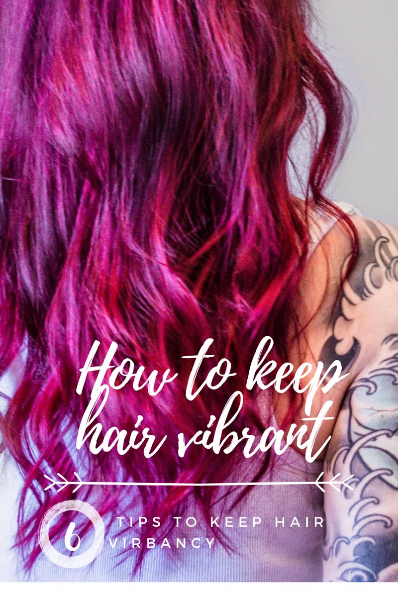 ways to keep unnatural hair colour vibrant oh that hair