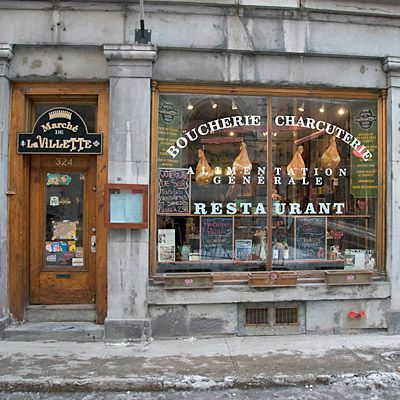 A delicatessen and restaurant in Old Montreal (Image ...