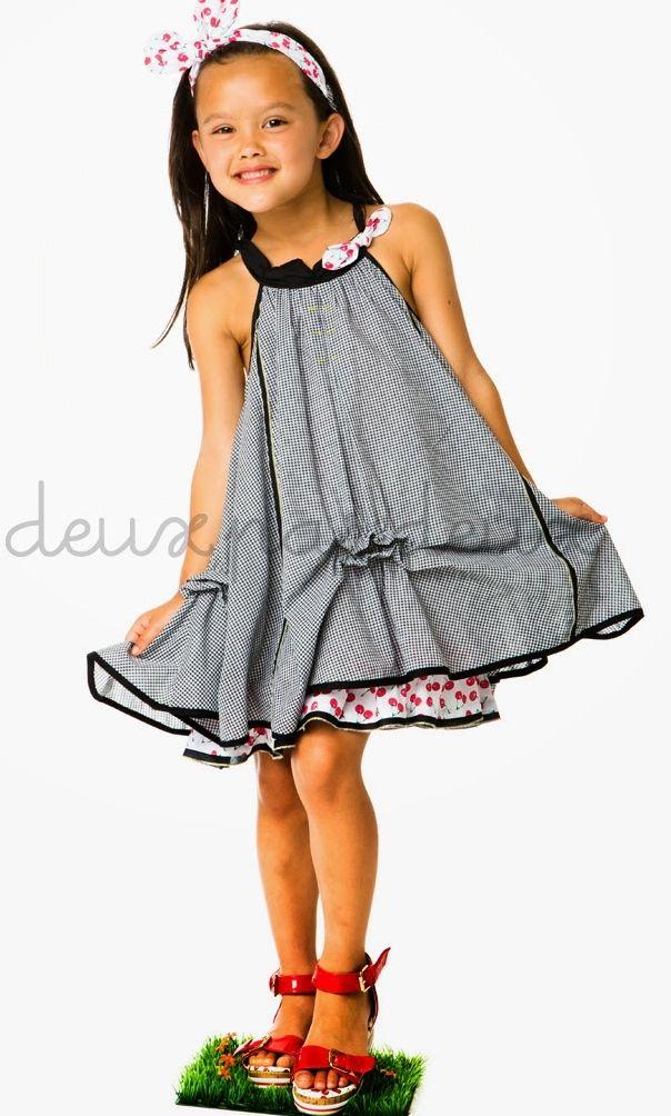 Deux par deux ``La Cerise Sur Le Gateau`` Precious Plaid Trapeze Dress *PREORDER*Sizes 2 - 8