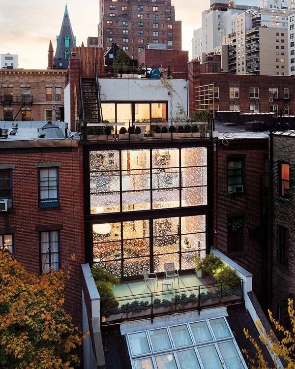 Loft Apartments In New York City: Spectacular Steel And Glass Manhattan Townhouse