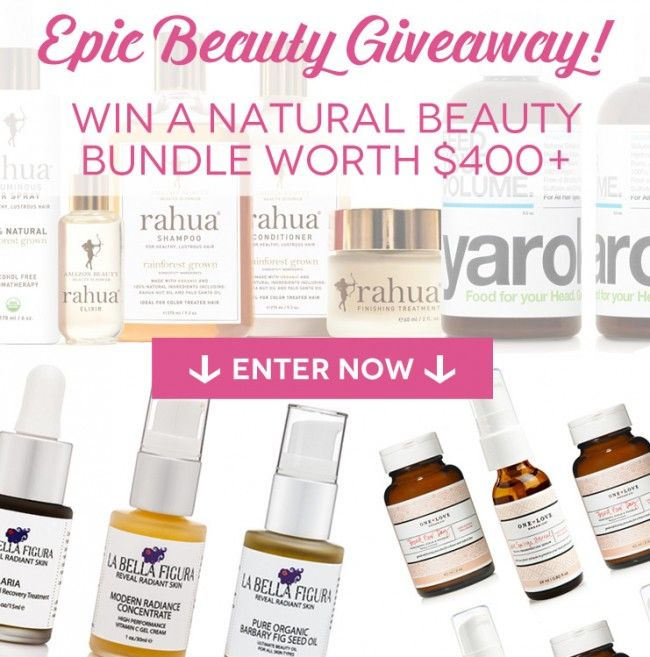 Beauty products giveaway
