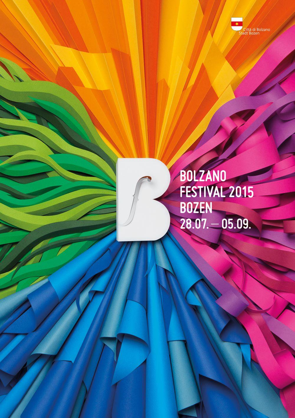 Poster design inspiration 2015 - Bolzano Festival Bozen 2015 On Behance