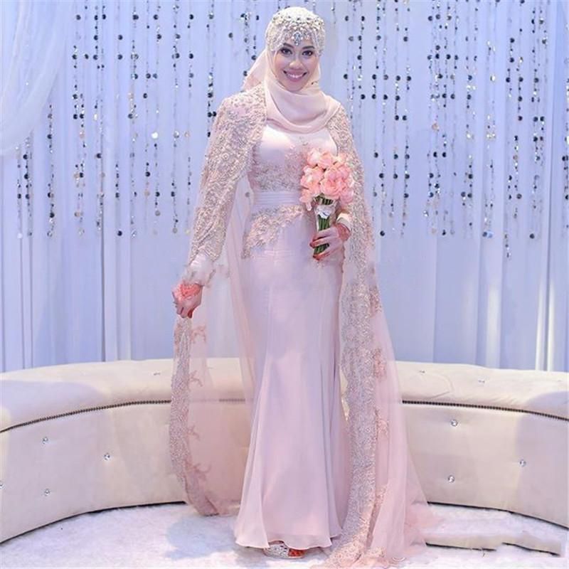 Find More Wedding Dresses Information About Long Sleeve Muslim Dress Gorgeous Beaded Crystal Bridal Gowns High
