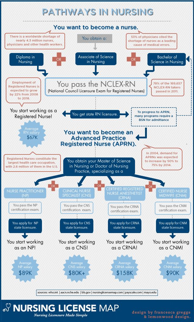So You Want To Be A Nurse Pathways In Nursing Infographic