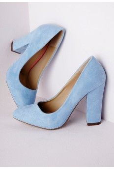 BlueChaussures Heel Shoes Powder Court Block Talons 5jR3L4A