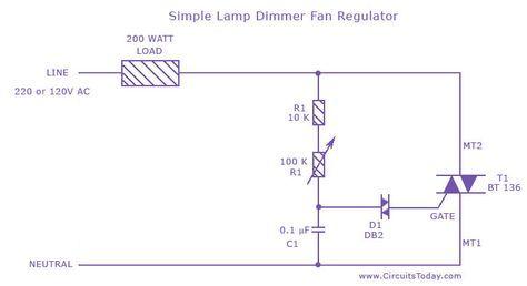lamp dimmer and fan regulator electronice pinterest rh pinterest com