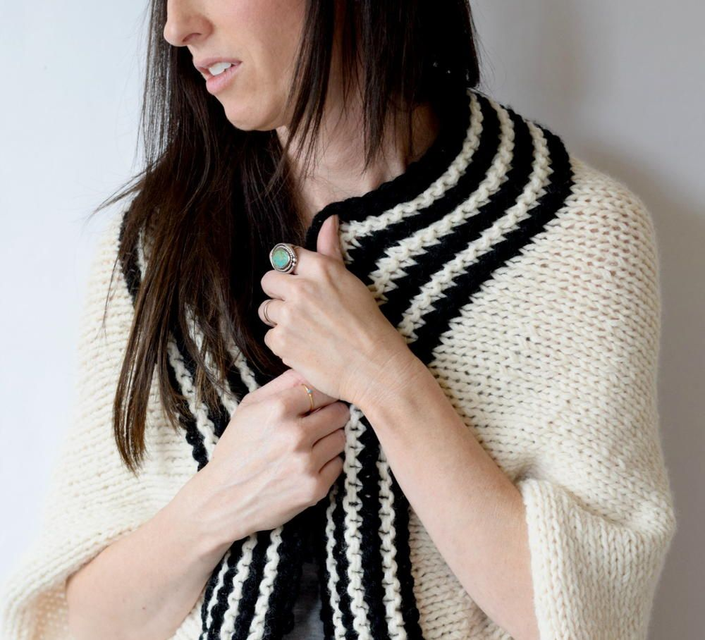 Classic Stripe Blanket Sweater | Blanket, Knit patterns and Patterns