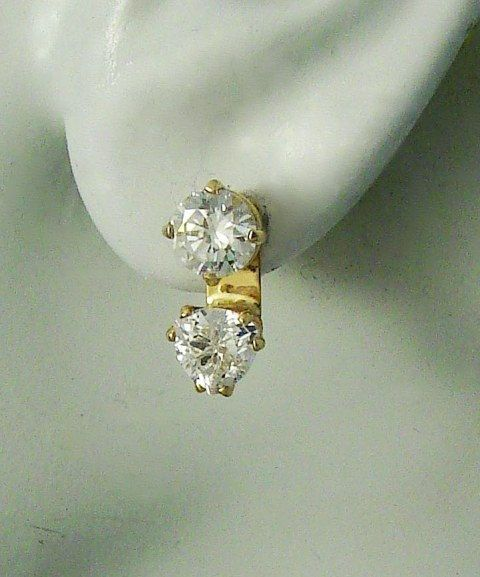 EARRING JACKETS for Studs 14k Gold  Enhancer Triangle by earcuffs, $129.00