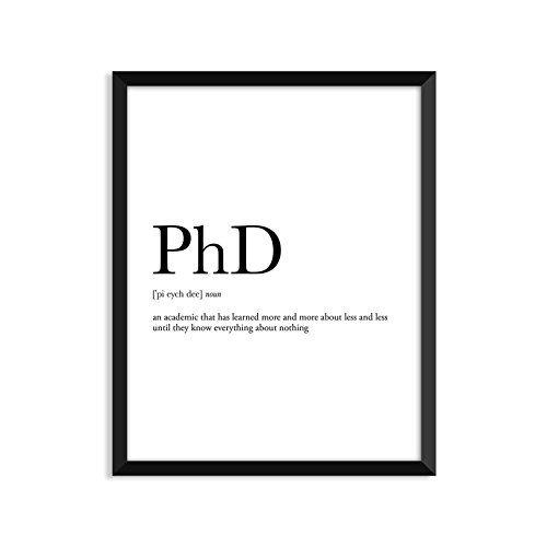 PhD definition, dictionary art print, dictionary art, office decor - finke küchen angebote