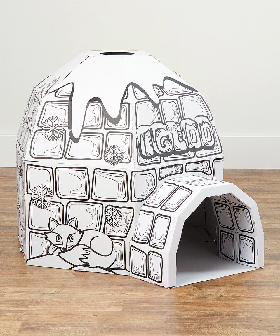 Take a look at this My Igloo Coloring Playhouse today! | art | Play ...