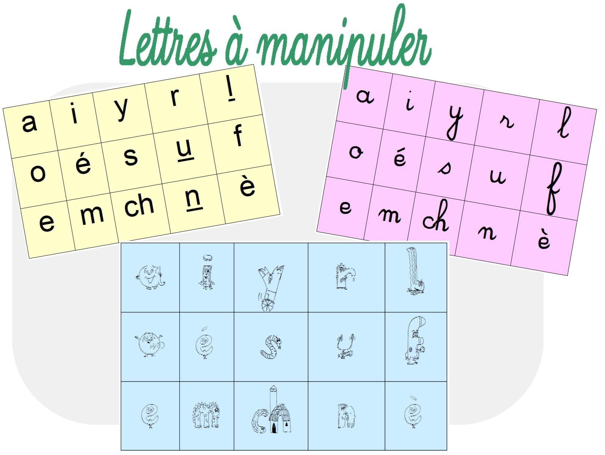 Exceptionnel Lettres mobiles pour dictées muettes | lecture cp | Pinterest  TD84