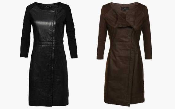 musthave of this season: leather dress €103,20 ❥ http://www