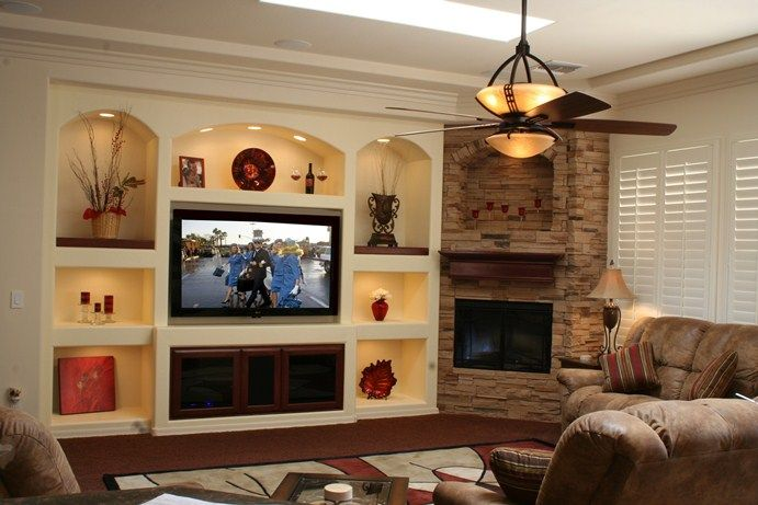 drywall entertainment center thunderbird custom design