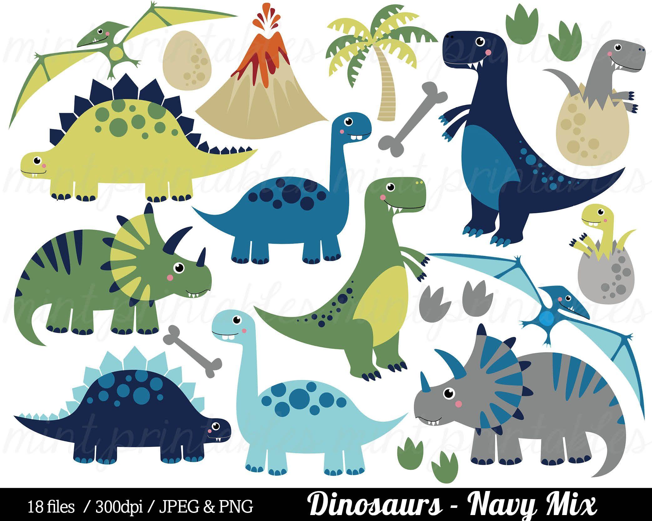 Dinosaur Clipart Dinosaurs Clip Art Tyrannosaurus Rex Etsy Dinosaur Clip Art Dinosaur Illustration Digital Clip Art Set