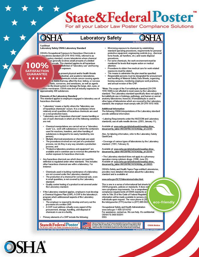 OSHA Laboratory Safety Noise Factsheet Emergency