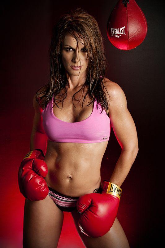Teen female boxing