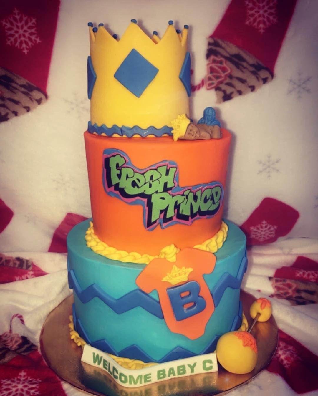 Fresh Prince Themed Baby Shower Cake Freshprinceofbelair