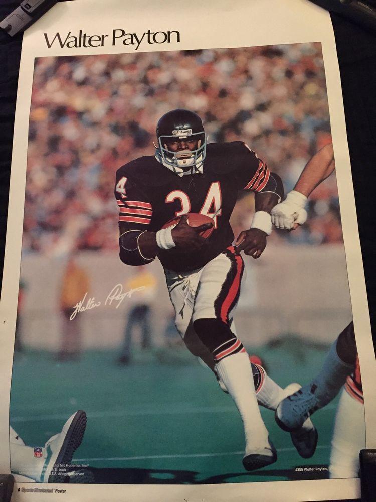 "Rare Original Walter Payton Sports Illustrated Poster 23""x"
