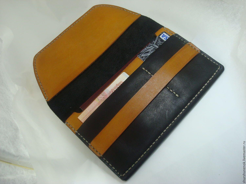 87c18ec30d81 Купить Тревел портмоне из натуральной кожи. - черный, портмоне, кожаное  портмоне, кошелек из кожи, тревел