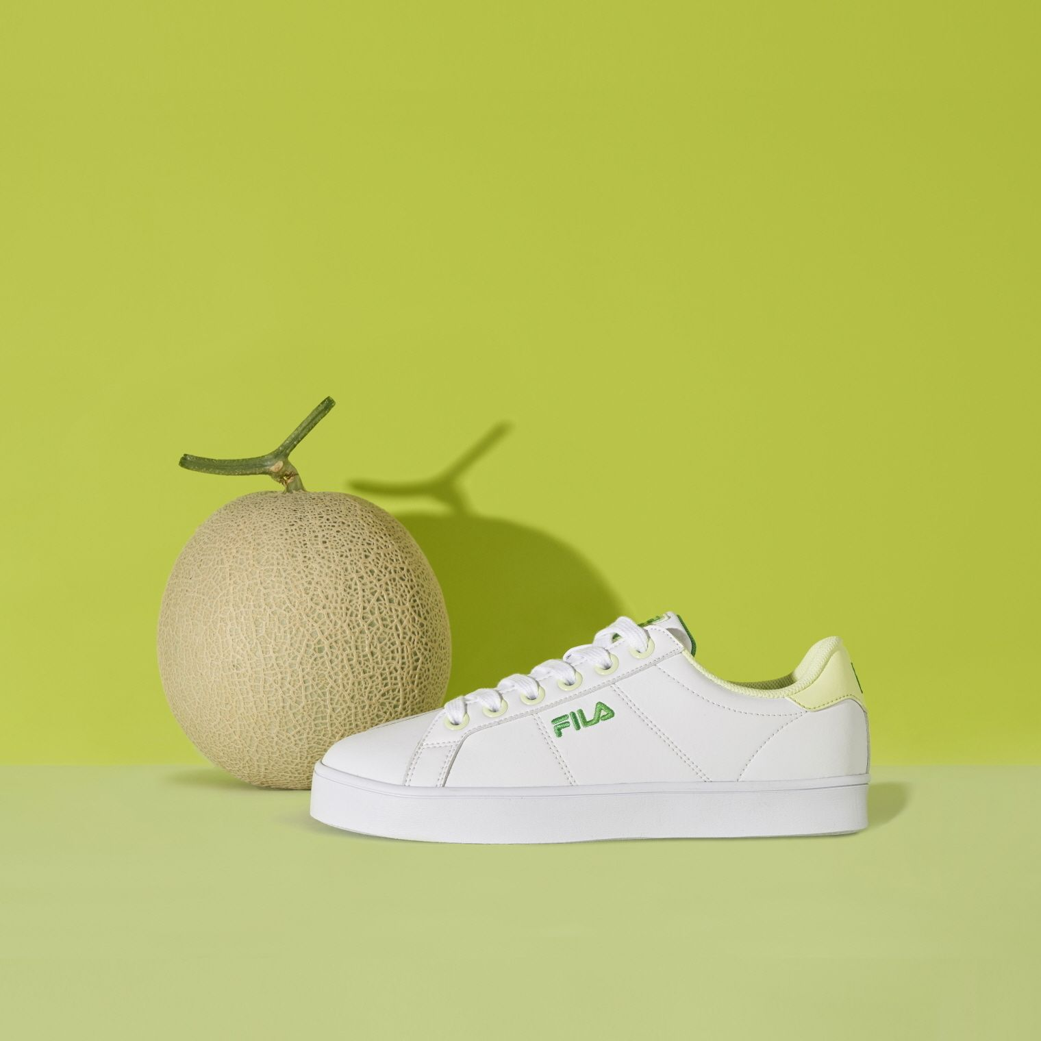 FILA Low Top Melona x FILA Court Deluxe White Green limited