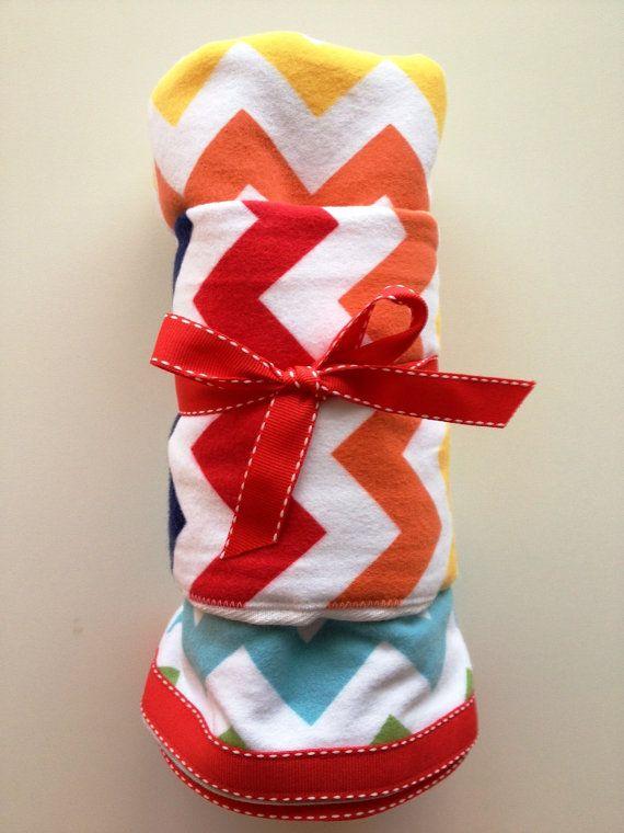 Riley Blake Bright Chevron Ribbon edged flannel by UniqueOs, $25.00