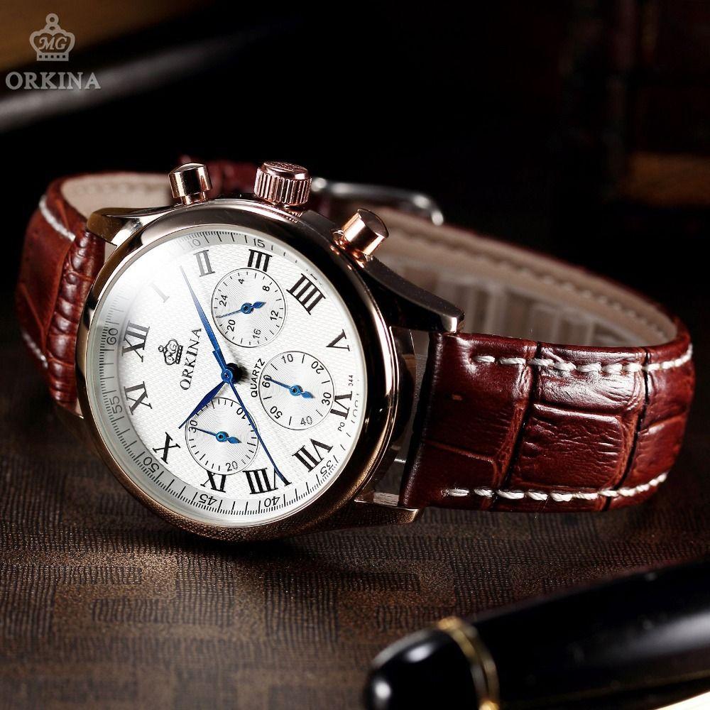 find more quartz watches information about classic orkina 6 hands find more quartz watches information about classic orkina 6 hands mens luxury