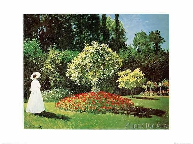 Claude Monet - Madame au Jardin a Sainte-Adresse