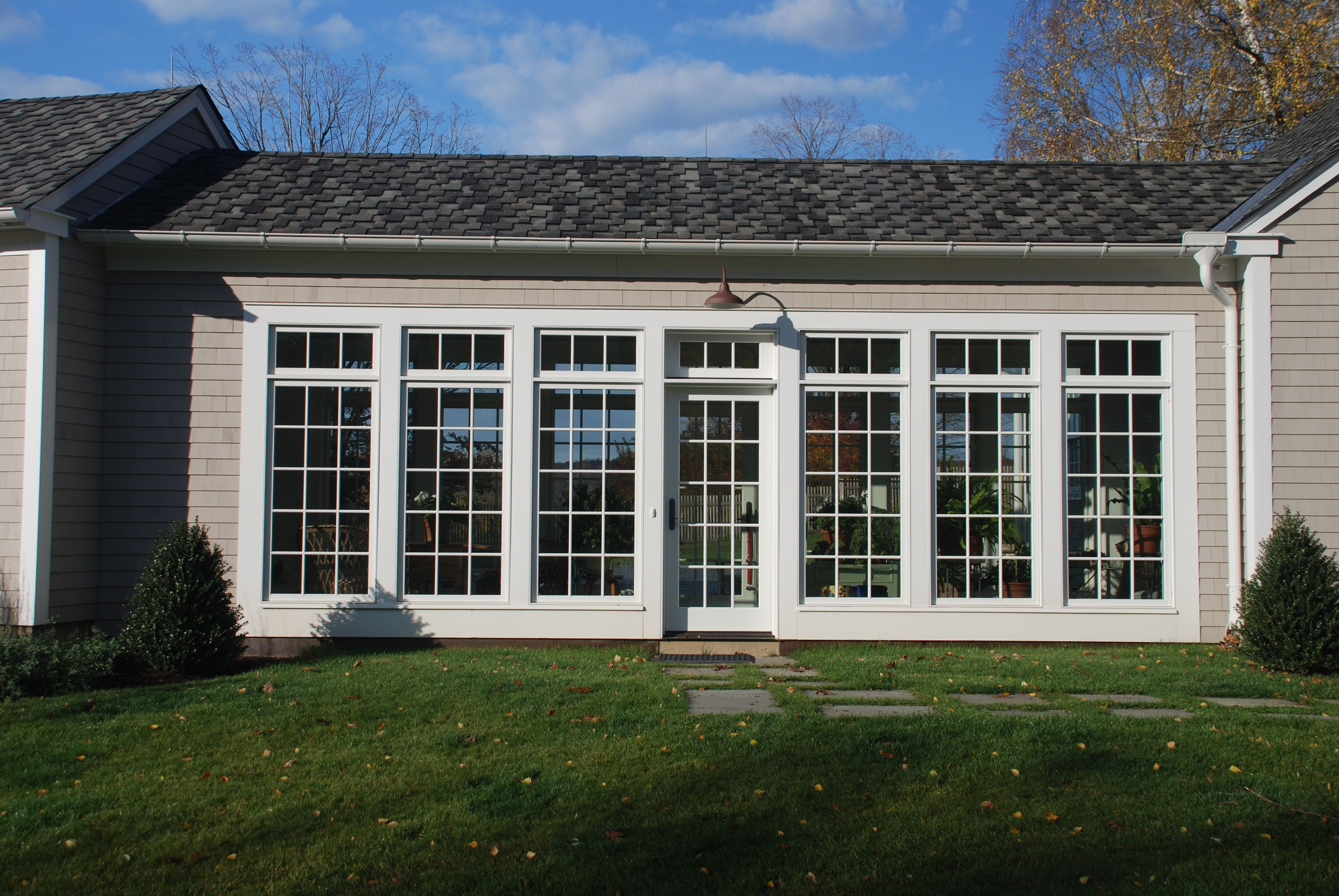 Breezeway of all windows for the home pinterest for Breezeway house plans