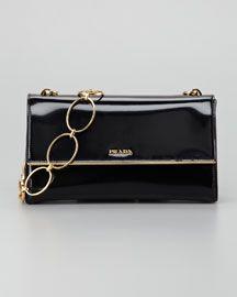V1DGT Prada Spazzolato Chain Shoulder Bag, Nero