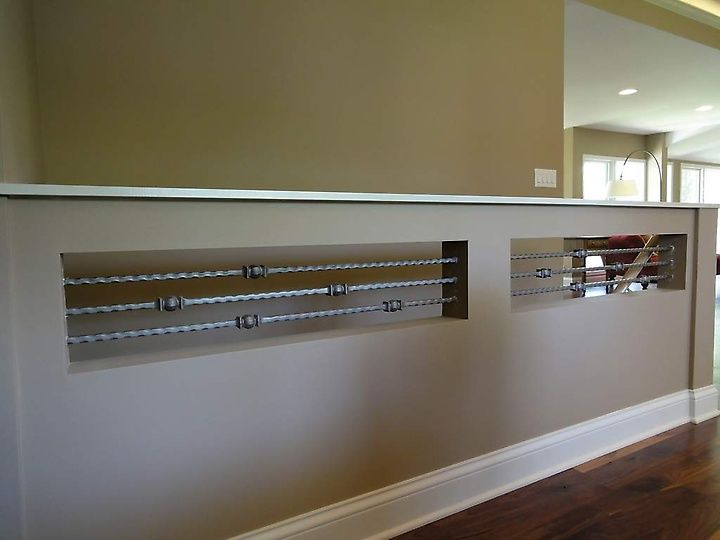 Best Stair Railings Turned Horizontally Help Keep A Half Wall 400 x 300