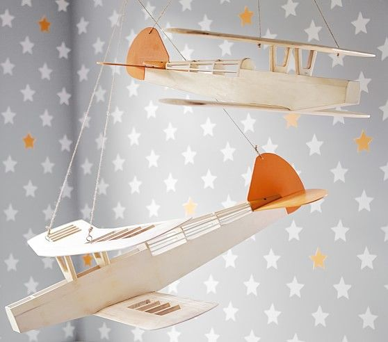 Hanging Airplanes | Pottery Barn Kids | Harry | Pinterest ...