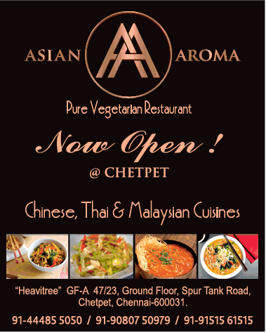 Asian Aroma Pure Vegetarian Restaurant Now Open At Chetpet Ad Chennai Times Check Out More Hotels Restaur Vegetarian Restaurant Malaysian Cuisine Vegetarian