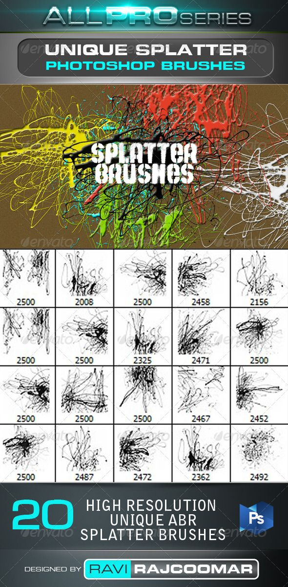 Unique Splatter Brushes(画像あり)