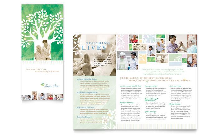 Elder Care and Nursing Home Brochure Template Design by - brochure word templates