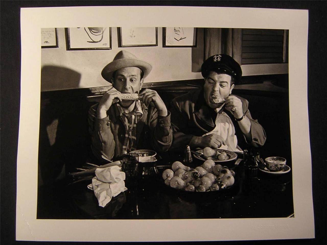 A vintage candid shot of comic legends 39 bud abbott and lou for Abbott california cuisine